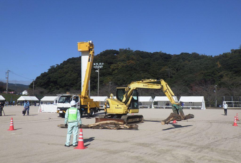 令和2年度福井県総合防災訓練に敦賀建設業会会員として参加致しました。